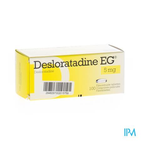 Desloratadine Eg 5mg Filmomh Tabl 100 X 5mg