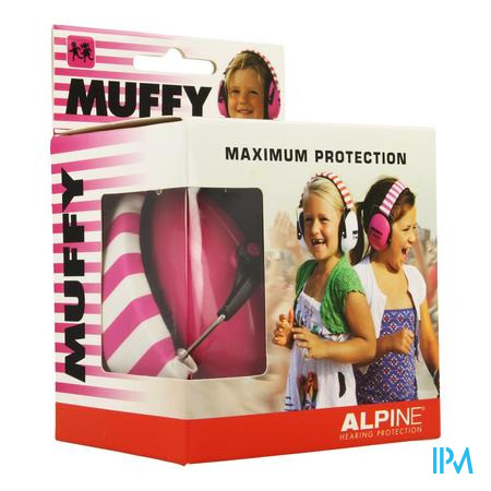 Alpine Muffy Koptelefoon Kids Roze/wit