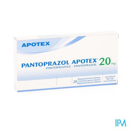 Pantoprazol Apotex Maagsapresist Tabl 28 X 20mg