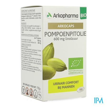 Arkocaps Pompoenpitolie Bio Caps 180