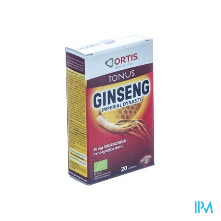 Ortis Dynasty Ginseng Imperial Bio 2 x 10 tabletten