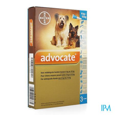Advocate Spot On Middelgrote Hond >4-10kg Pipet 3