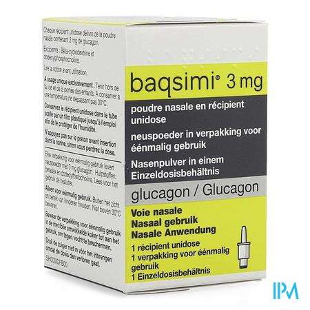 Baqsimi 3mg Snuifpoeder Unidose Container 1