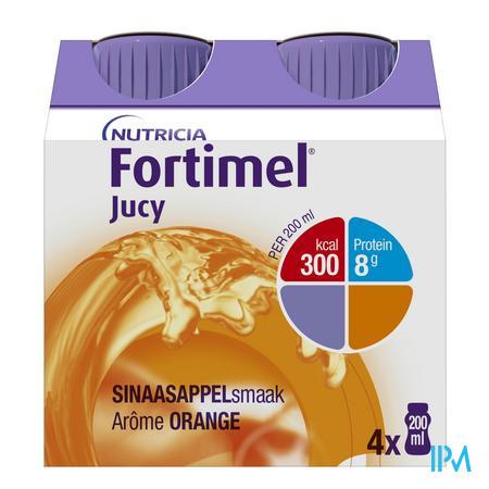Fortimel Jucy Orange Cluster 4x200 ml 65450  -  Nutricia