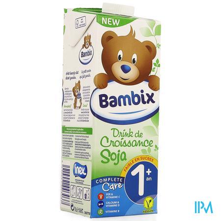 Bambix Groeimelk Soja 1+ 1l