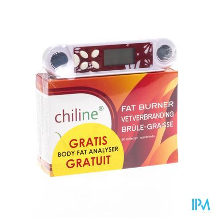 Chiline Brule-Graisse + Mètre Graisse Corporelle Gratuit 60 comprimés