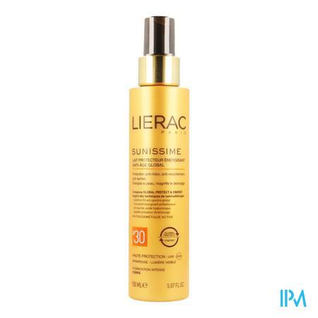 Afbeelding Lierac Sunissime Verkwikkende Zonnemelk SPF 30 met Globale Anti-Ageing voor Lichaam Spray 150 ml .