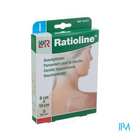 Ratioline Aqua Douchepleister Niet Steriel 8cm x 10cm 5 pleisters