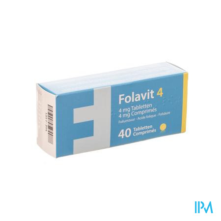 Folavit 4,0mg Tabl 40 X 4,0mg