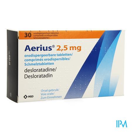 Aerius 2,5mg Comp Orodispergeerbare 30 X 2,5mg