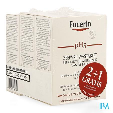 Afbeelding Eucerin PH5 wastablet z/zeep 100g 2+1 gratis.