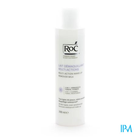 Roc Lait Démaquillant 3 En 1 Multi-Actions 200 ml