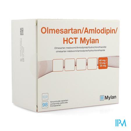 Olmesartan/amlodip/hct Mylan40/10/25,0 Filmtabl 98