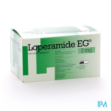 Farmawebshop - LOPERAMIDE EG CAPS 200X2MG