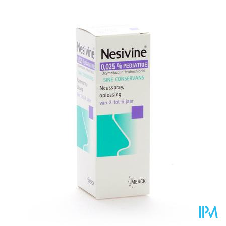 Nesivine 0,025% Sine Conserv Ped Spray Nas 10 ml