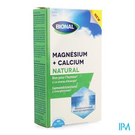 Bional Magnesium Calcium Natural Caps 40