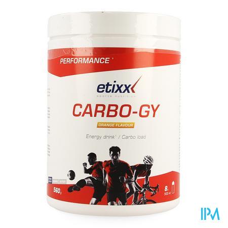 Afbeelding Etixx Carbo-Gy met Sinaasappelsmaak 560 g.