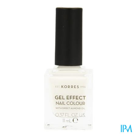 Korres Km Gel Effect Nail 01 Blanc White 11ml