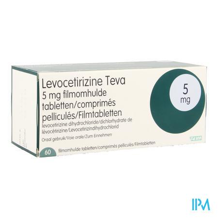 Levocetirizine Teva 5 mg Filmomhulde Tabletten 60 X 5 mg