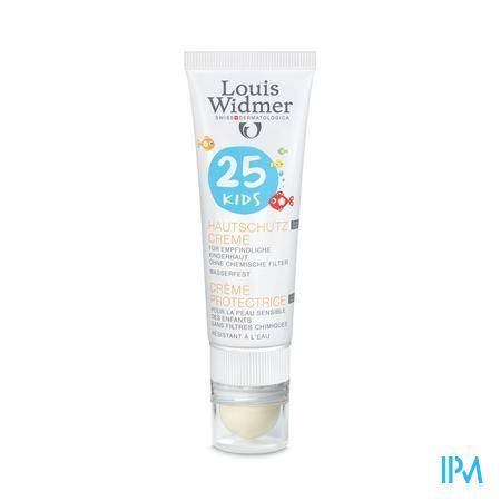 Afbeelding Louis Widmer Sun Kids 25 zonder parfum + lipstick 25ml.
