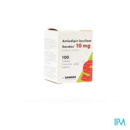 Amlodipine Besilaat Sandoz Pot C0mp 100x10mg