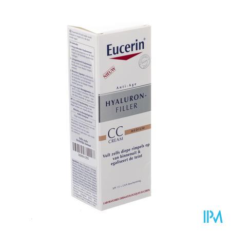Afbeelding Eucerin Hyaluron-Filler CC Crème Medium Tint Beige Rosé met SPF 15 Flacon 50 ml.