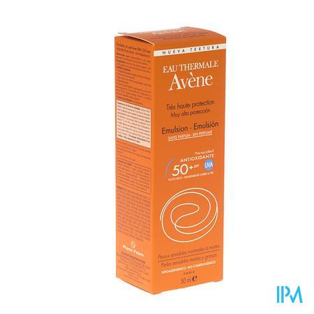 Avene Zon Emulsie Spf50+ Zonder Parfum 50 ml