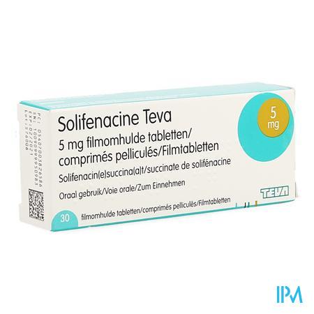 Solifenacine Teva Filmomh Tabl 30 X 5mg
