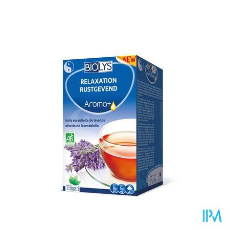 Afbeelding Biolys Aroma+ Rustgevende Thee met Etherische Lavendelolie 20 Zakjes.