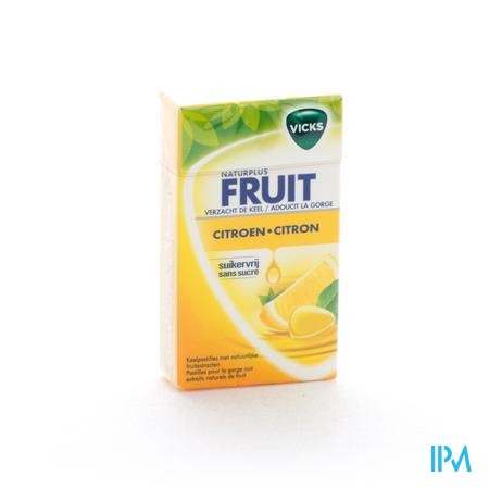 Vicks Lemon+c Zonder Suiker 40 gr Box
