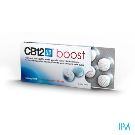Cb12 Boost Chewing Gum Strong Mint Suikervrij 10