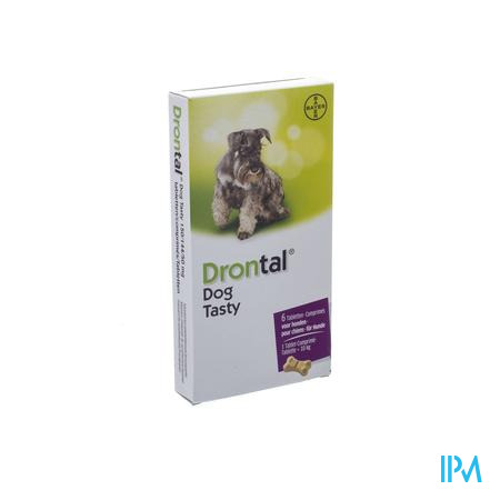 Drontal Tasty Bone 150/144/5mg 10kg Dog Comp 6