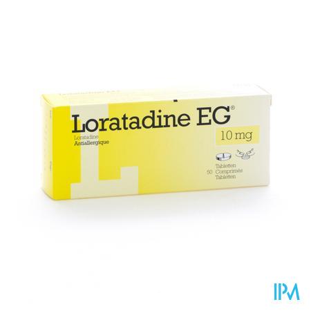 Farmawebshop - LORATADINE EG 10 MG TABL 50 X 10 MG