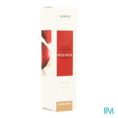 Afbeelding Korres Wilde Roos CC Crème met SPF 30 Medium Tint voor Alle Huidtypes 30 ml.
