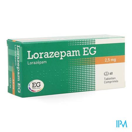 Lorazepam Eg Comp 60x2,5mg