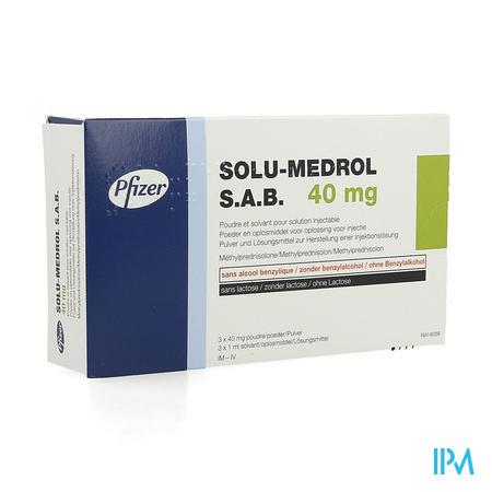 Solu-medrol Sab 40mg Pdr + Solv Opl Inj Fl 3x40mg