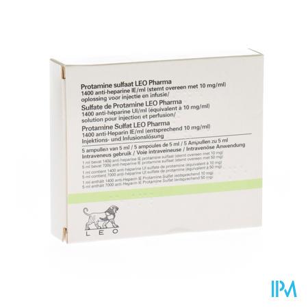 Protamine Sulfaat Leo Pharma Amp 5 X 5ml