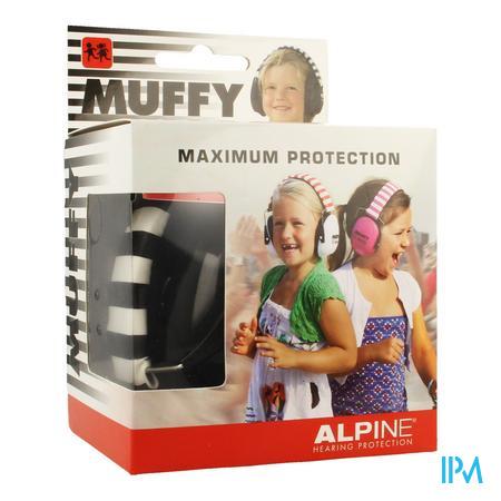 Alpine Muffy Koptelefoon Kids Zwart/wit