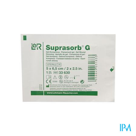 Suprasorb G Kompres 5x6,5cm 5 33630
