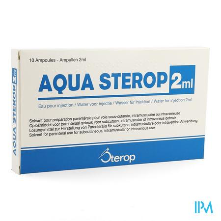 Aqua Sterop Pour Inj Solvens Amp 10 X 2ml