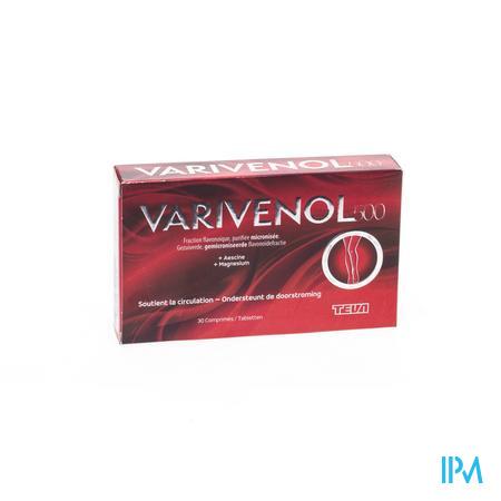 Afbeelding Varivenol 500 voor Ondersteuning van de Doorstroming 30 Tabletten.
