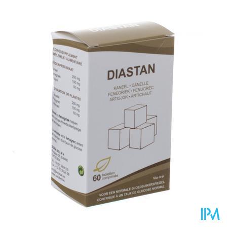 Afbeelding Soria Diastan voor een Normale Bloedsuikerspiegel met Kaneel, Fenegriek en Artisjok 60 Tabletten.