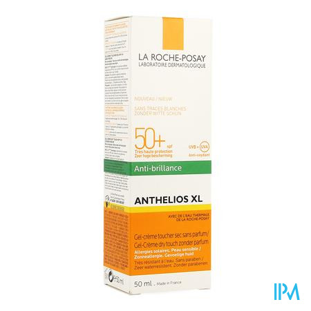 Afbeelding La Roche-Posay Anthelios XL Matterende Zonnegel-Crème SPF 50+ Dry Touch voor Gelaat 50 ml.