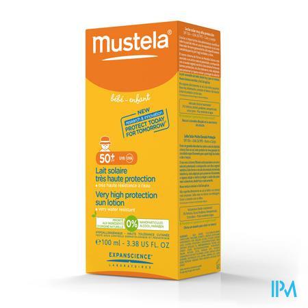 Mustela Bébé Lait Solaire Spf 50+ 100 ml