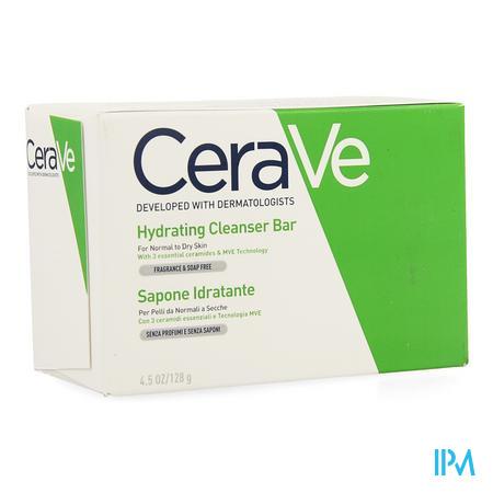 Afbeelding CeraVe Hydraterende Wastablet Zonder Parfum en Zonder Zeep voor Normale tot Droge Huid 128 g.