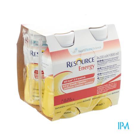 Resource Energy Drink Banane 4x200 ml  -  Nestle Belgilux