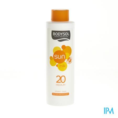 Afbeelding Bodysol Waterresistente Zonnemelk SPF 20 voor Lichaam 400 ml.