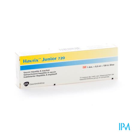 Havrix Junior 720 Ser Inj Im 0,5ml