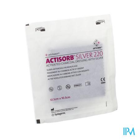Actisorb Silver 220 Kp 10,5x10,5cm 1 Mas105de