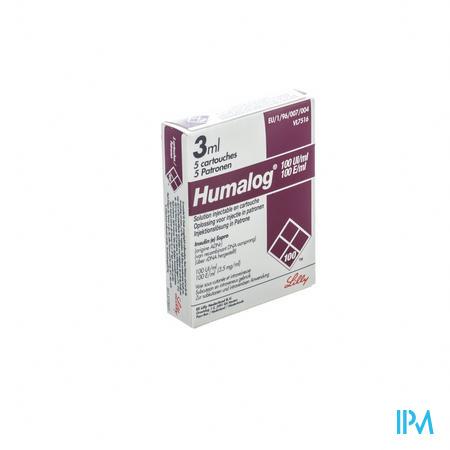 Humalog Cartridge 100u/1ml 5x3ml